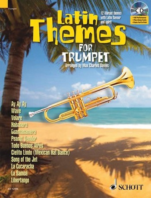 Latin Themes (+CD): für Trompete (Klavierbegleitung als PDF zum Ausdrucken)