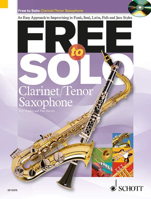 Free to solo (+CD): for clarinet (tenor saxophone)