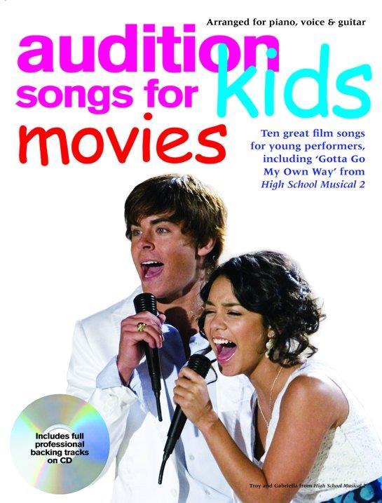 Audition Songs for Kids - Movies (+CD): songbook piano/vocal/guitar