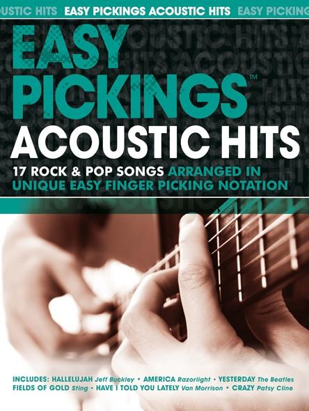 Easy Pickings - Acoustic Hits: for guitar in tablature (with text)