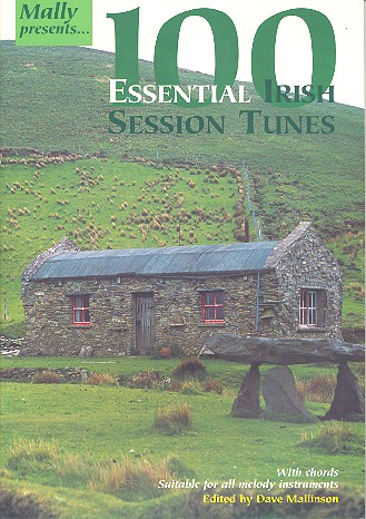 100 Essential Irish Session Tunes: melody line with chords, suitable for all