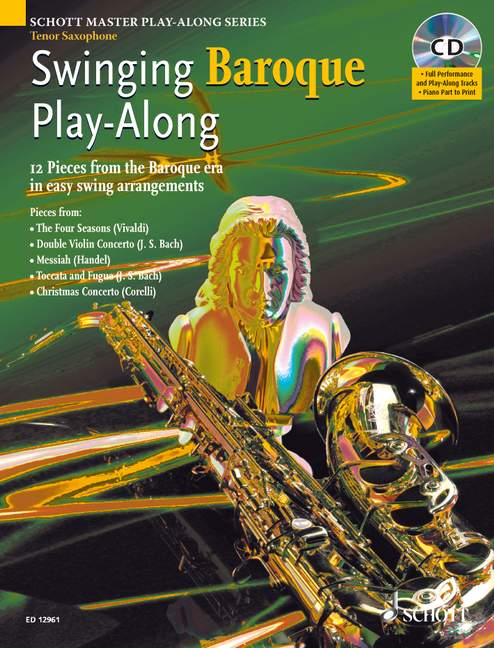 - Swinging Baroque (+CD) : for tenor saxophone