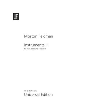 Instruments 3: für Flöte, Oboe und Percussion