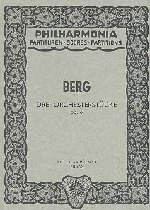 3 Orchesterstücke opus.6 Studienpartitur