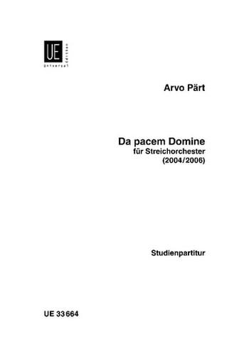 Da pacem Domine: für Streichorchester Studienpartitur
