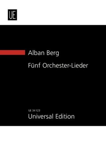 5 Orchester-Lieder op.4: für Gesang und Orchester