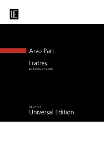Fratres: für Kammer-Ensemble Studienpartitur