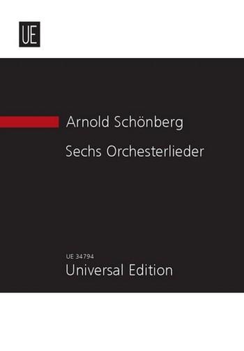 6 Orchesterlieder op.8: für Gesang und Orchester