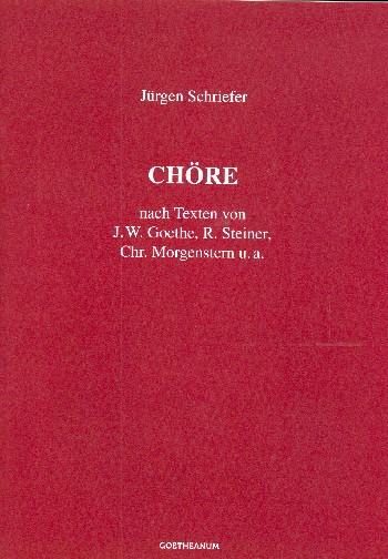 23 Chöre nach Texten von Goethe, Morgenstern,Steiner u.a.: für gem Chor a cappella