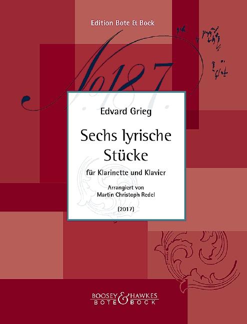 6 lyrische Stücke: für Klarinette und Klavier