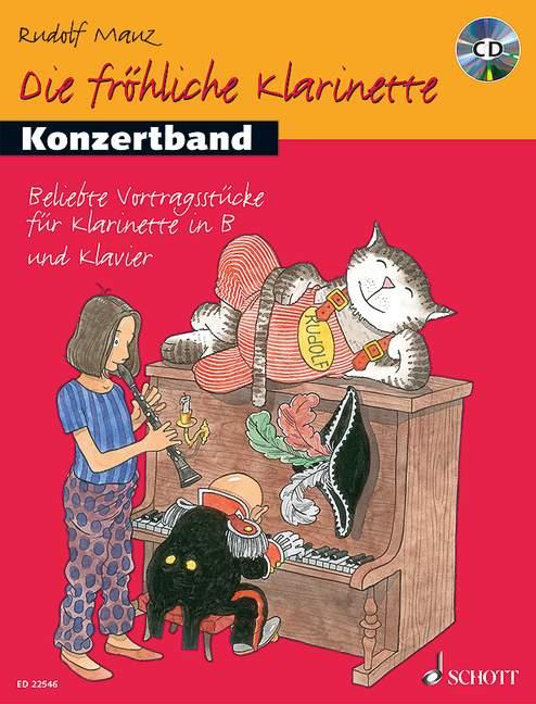 Die fröhliche Klarinette Band 1 - Konzertband (+CD): für Klarinette und Klavier