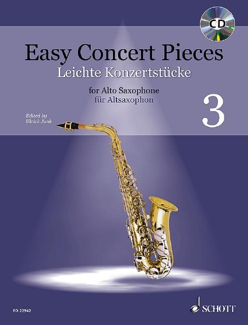 Leichte Konzertstücke Band 3 (+CD): für Altsaxophon und Klavier