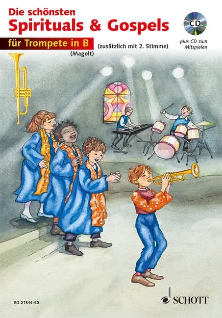 Die schönsten Spirituals & Gospels: für 1-2 Trompeten
