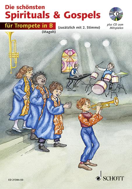 Die schönsten Spirituals & Gospels (+CD): für 1-2 Trompeten