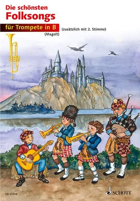 Die schönsten Folksongs: für 1-2 Trompeten Spielpartitur