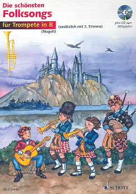 Die schönsten Folksongs (+CD): für 1-2 Trompeten