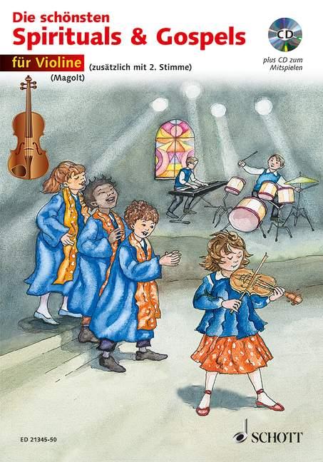 Die schönsten Spirituals & Gospels (+CD): für 1-2 Violinen