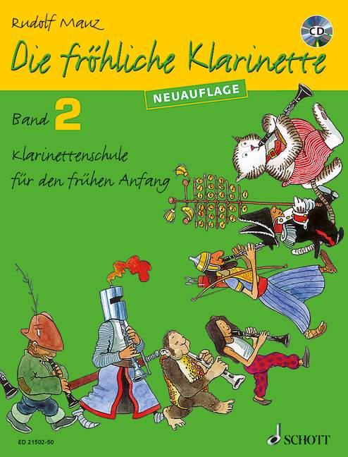Die fröhliche Klarinette Band 2 - Schule (+CD)