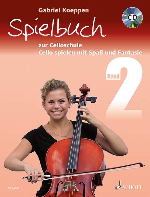 Cello spielen mit Spaß und Fantasie Band 2 - Spielbuch (+CD): für 1-3 Violoncelli und Klavier