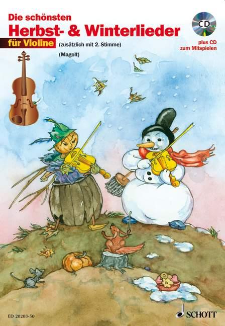- Die schönsten Herbst- und Winterlieder (+CD) :