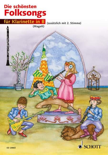 Die schönsten Folksongs: für 1-2 Klarinetten Spielpartitur