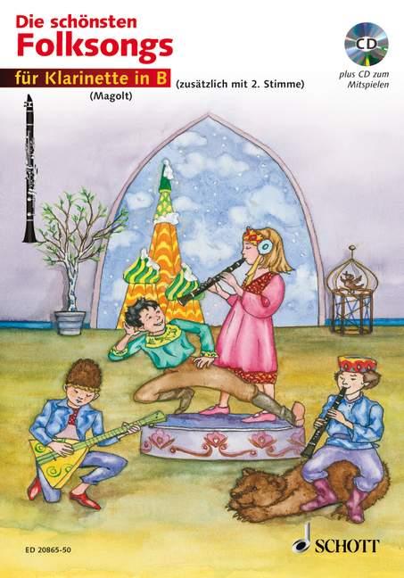 Die schönsten Folksongs (+CD): für 1-2 Klarinetten