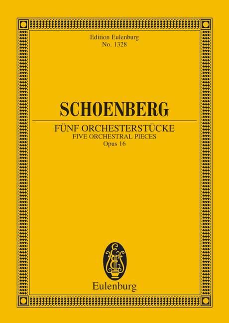 5 Orchesterstücke opus.16 in der Originalfassung, Studienpartitur