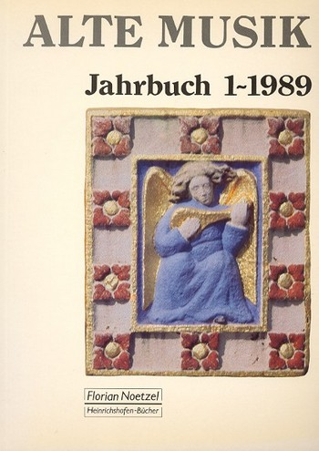 Alte Musik Jahrbuch 1/1989