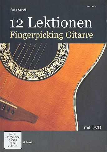 12 Lektionen Fingerpicking-Gitarre (+DVD): für Gitarre/Tabulatur