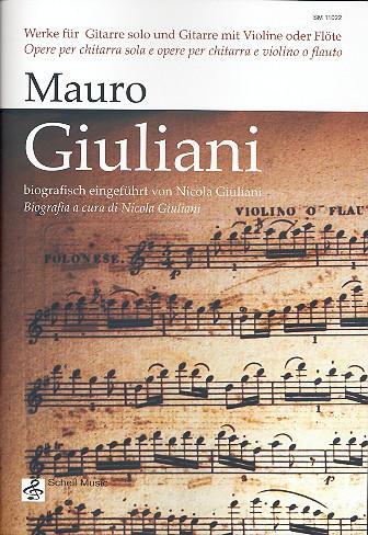 Werke für Gitarre (z.T. mit Violine/Flöte) Stimmen