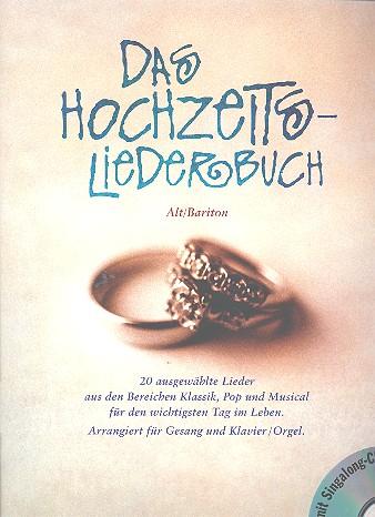 Das Hochzeitsliederbuch (+CD): für tiefe Stimme und Klavier