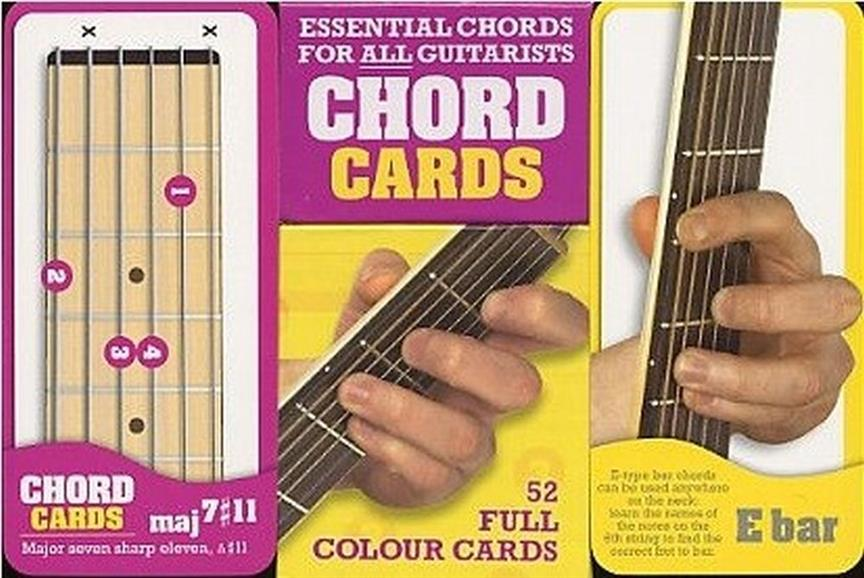 - Chord Cards for Guitar : 52 full Colour Cards