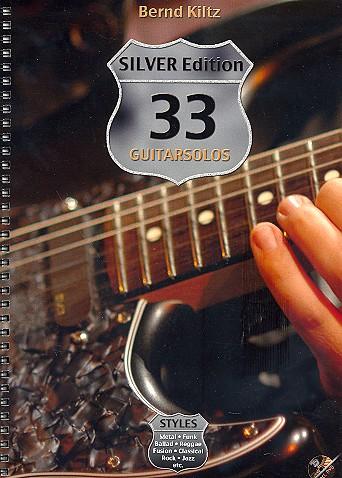 33 Guitarsolos Silver Edition (+DVD): für Gitarre/Tabulatur