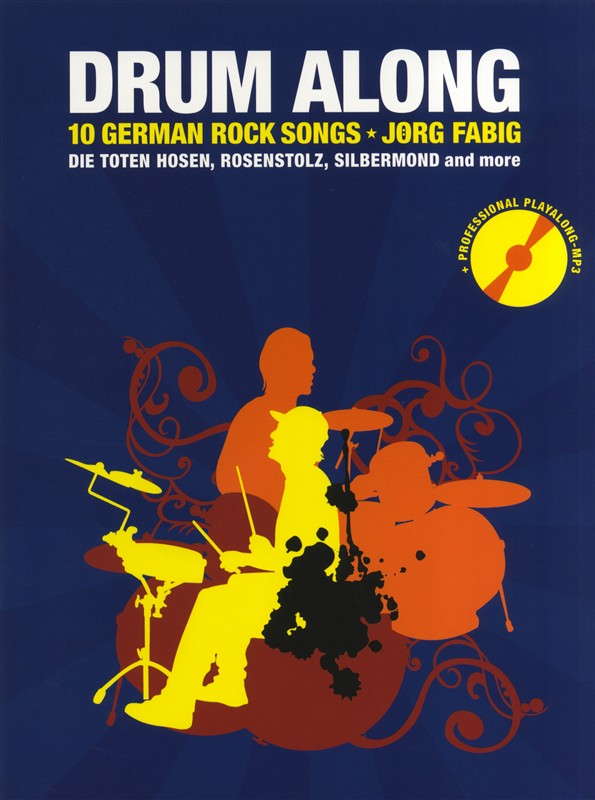 Drum along - 10 German Rock Songs (+CD): für Schlagzeug (dt)