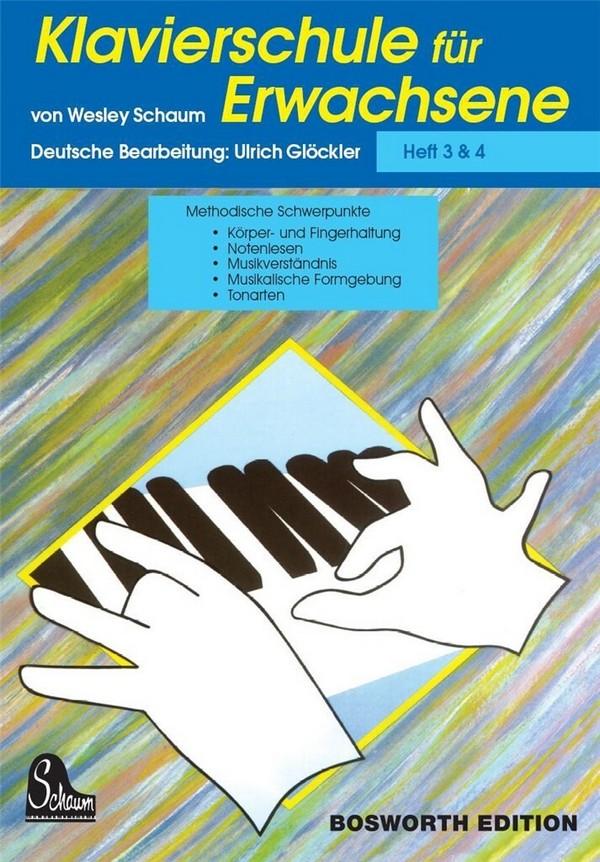 Schaum, Wesley - Klavierschule für Erwachsene Band 3 und 4