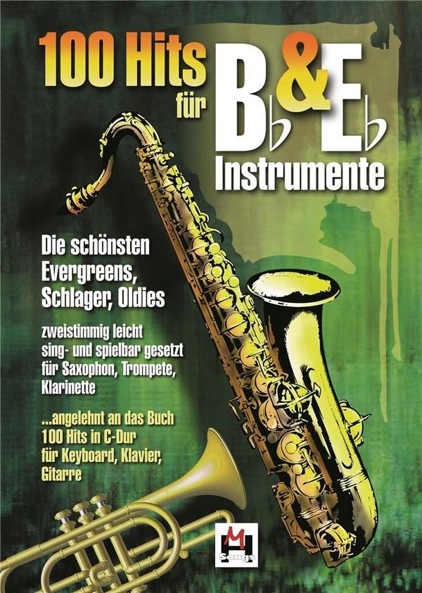 100 Hits für B- und Es-Instrumente: für 2 Instrumente (mit Text)