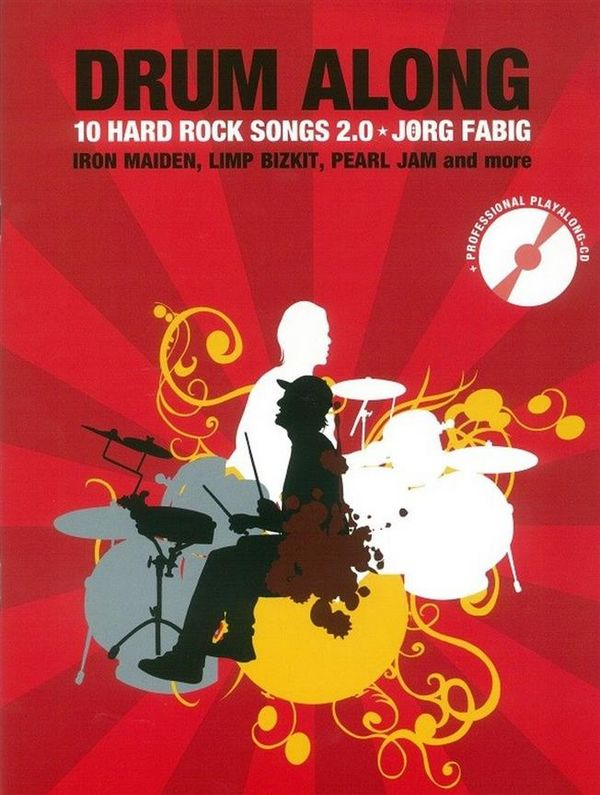 Drum along - 10 Hard Rock Songs 2.0 (+mp3-CD): für Schlagzeug (dt)