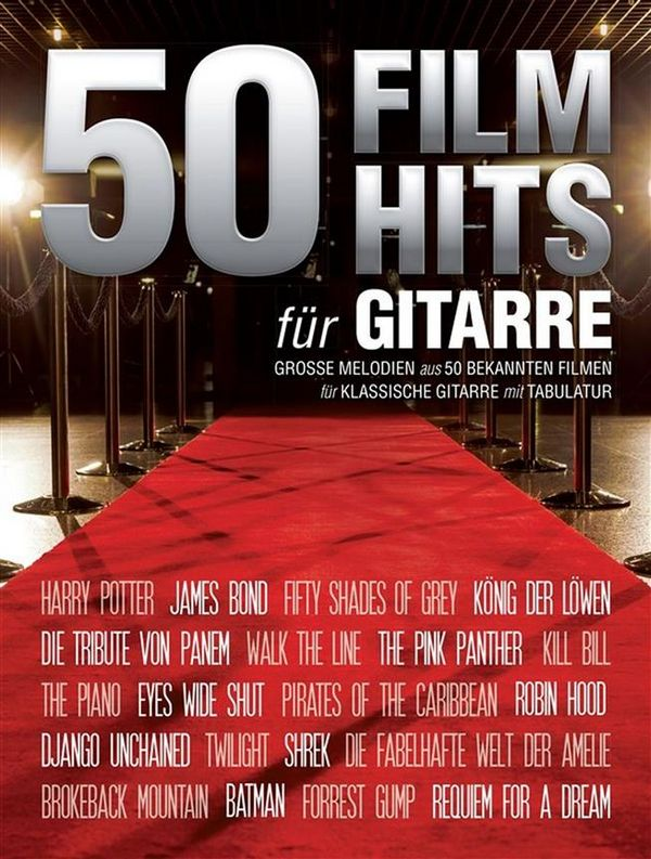 50 Filmhits: für Gitarre/Tabulatur