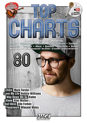 Top Charts 80 (+CD) : - Vollanzeige.