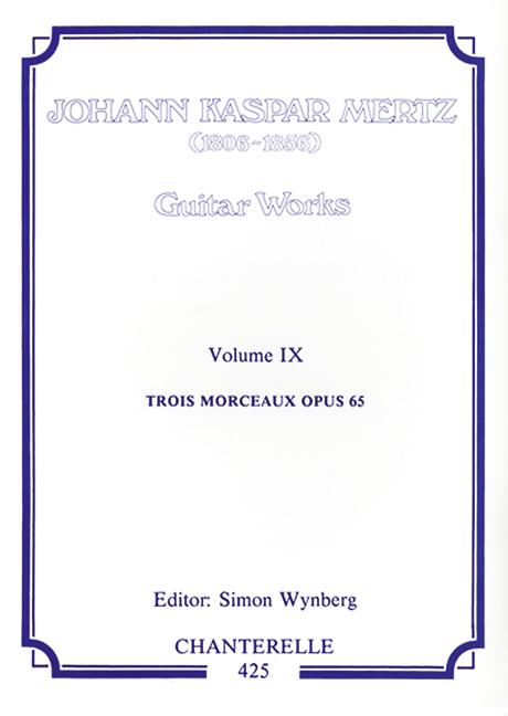 3 morceaux opus.65: for guitar