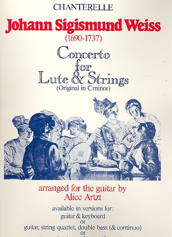 Concerto d minor for lute and strings: for lute and keyboard