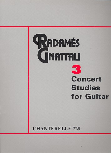 3 Concert Studies: for guitar