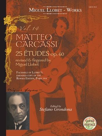 Llobet, Miguel - Guitar Works vol.14 - Matteo Carcassi 25 Études op.60 :