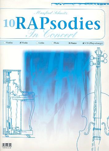 10 RAPsodies in Concert (+CD): für Viola und Klavier