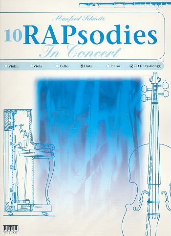 10 RAPsodies in Concert (+CD): für Flöte