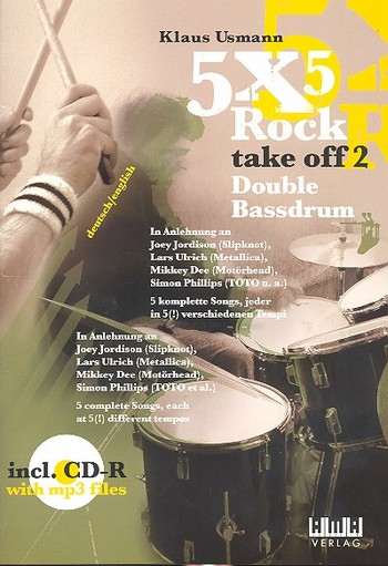 5 x 5 Rock take off 2 (+CD-R): for double bassdrum