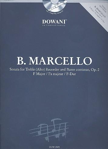 Marcello, Benedetto - Sonate F-Dur op.2  für Altblockflöte und Bc (+CD) :