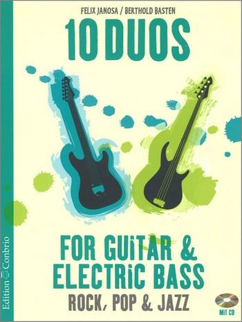 10 Duos (+CD): für Gitarre und E-Bass Spielpartitur in Noten/Tabulatur