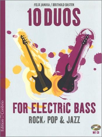 10 Duos (+CD): für 2 E-Bässe Spielpartitur in Noten/Tabulatur