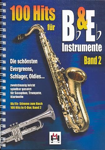 100 Hits für Bb- und Es-Instrumente Band 2